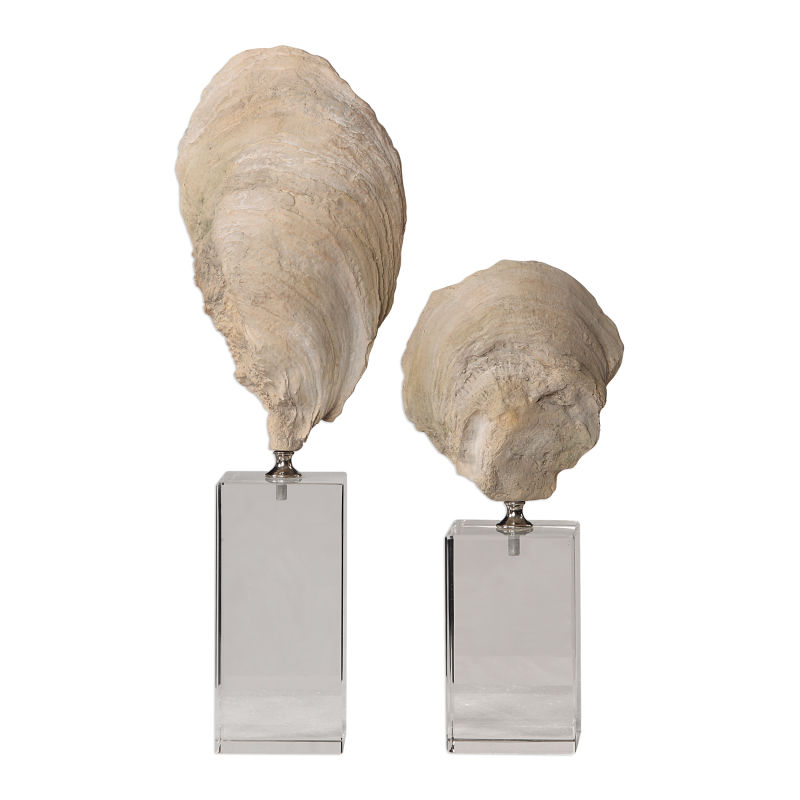 17523 Uttermost Oyster Shell Sculptures, S/2