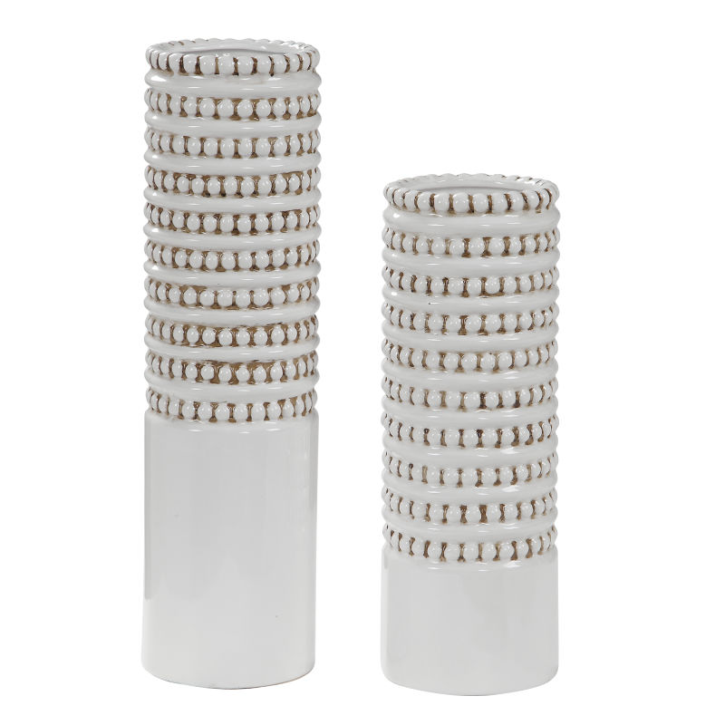 17570 Uttermost Angelou White Vases, Set/2