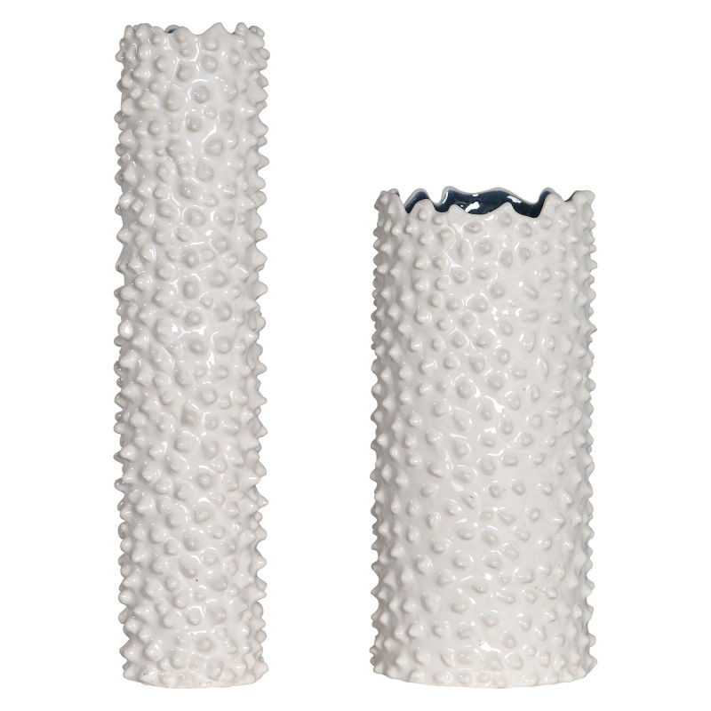17578 Uttermost Ciji White Vases, Set/2