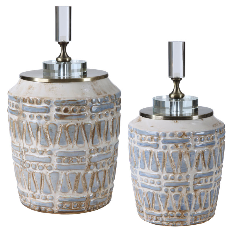 17740 Uttermost Lenape Ceramic Bottles, S/2