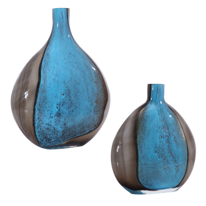17741 Uttermost Adrie Art Glass Vases, S/2