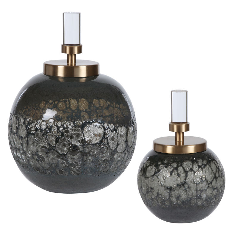 17729 Uttermost Cessair Art Glass Bottles, S/2