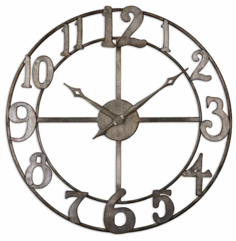 "06681 Uttermost Delevan 32"" Metal Wall Clock"