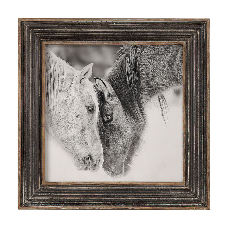 51110 Uttermost Custom Black And White Horses Print