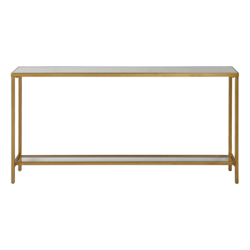 24685 Uttermost Hayley Gold Console Table