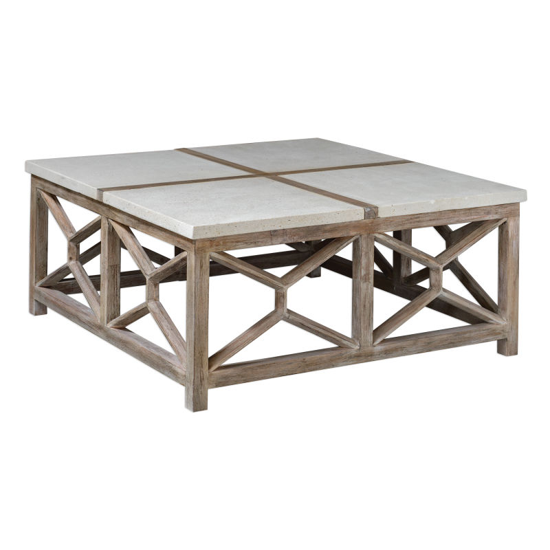 25885 Uttermost Catali Stone Coffee Table