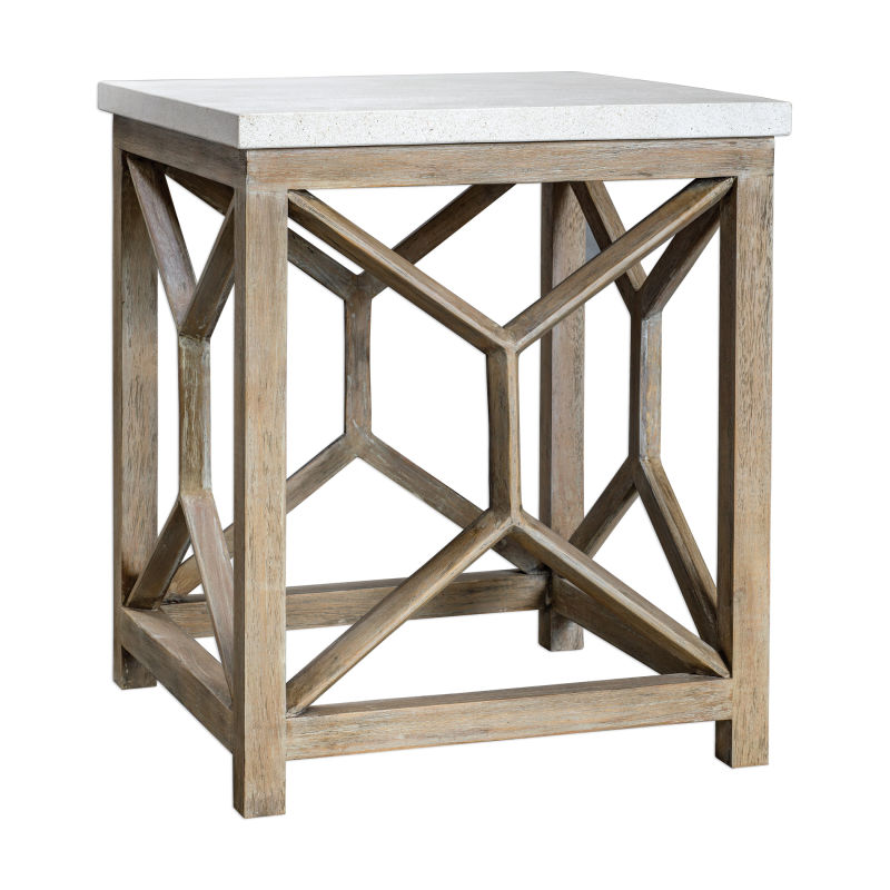 25886 Uttermost Catali Stone End Table