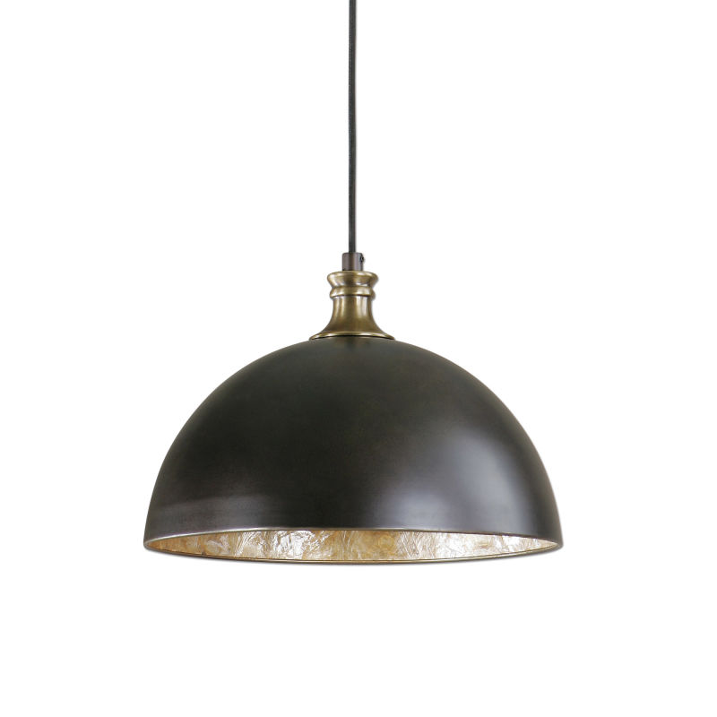 22028 Uttermost Placuna 1 Light Bronze Pendant