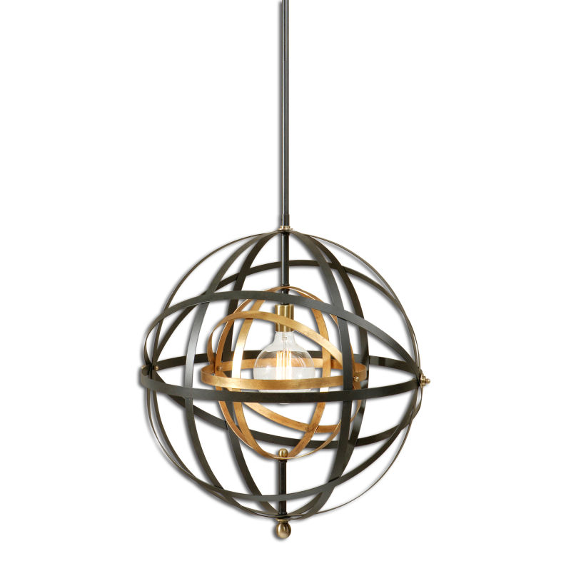 22038 Uttermost Rondure 1 Light Sphere Pendant