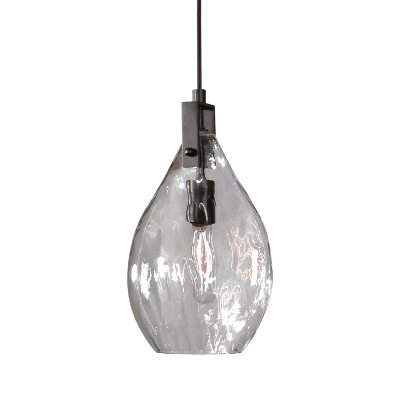 22049 Uttermost Campester 1 Light Watered Glass Mini Pendant