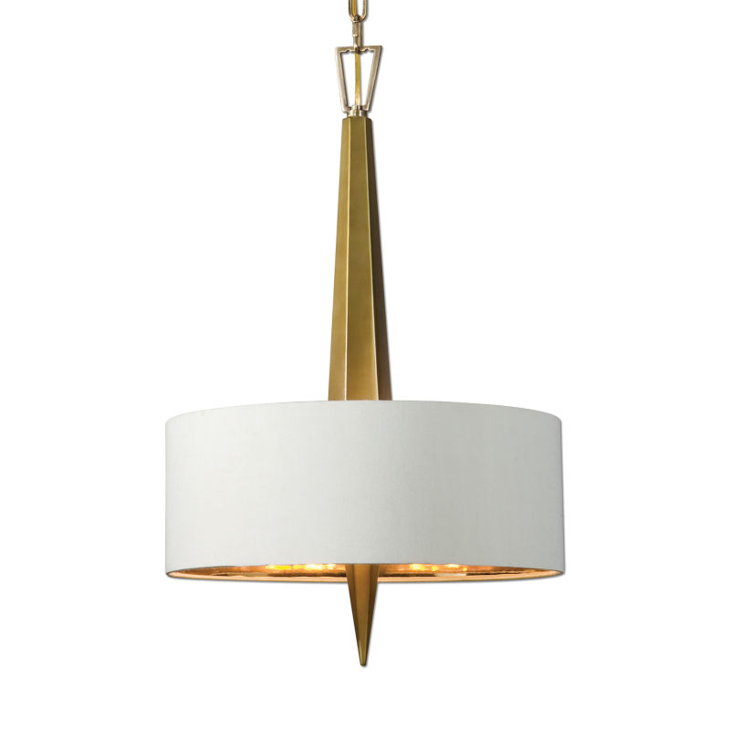 21264 Uttermost Obeliska 3 Light Gold Chandelier