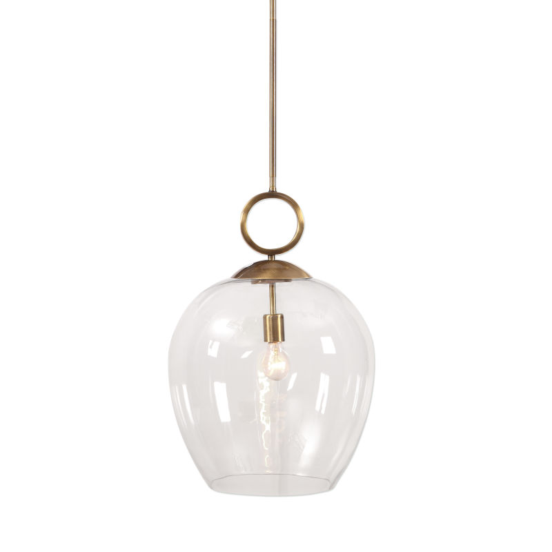 22127 Uttermost Calix Large Blown Glass 1 Light Pendant