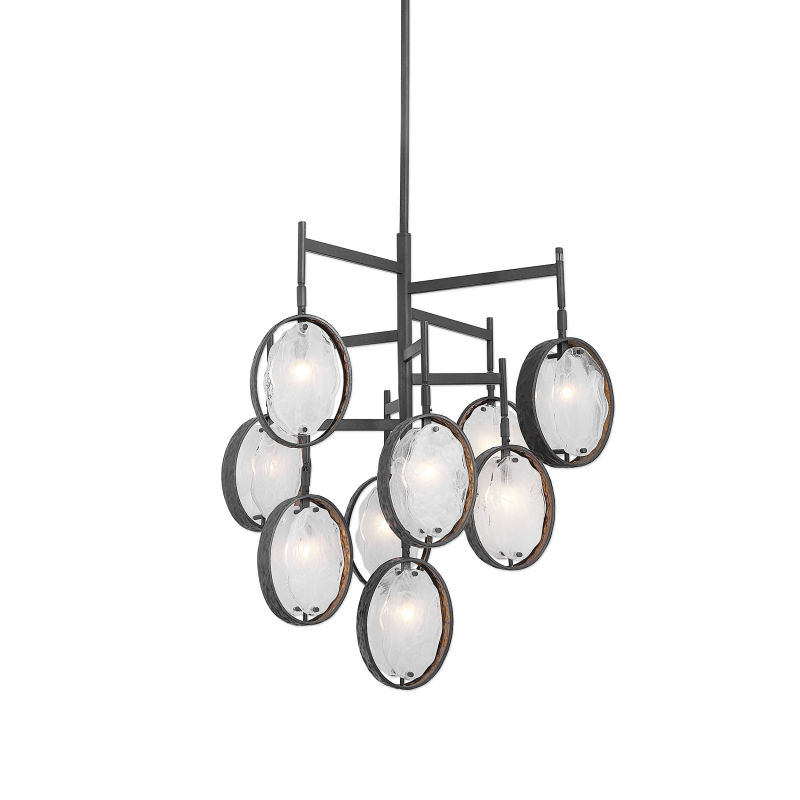 21317 Uttermost Maxin Dark Bronze 9 Light Chandelier