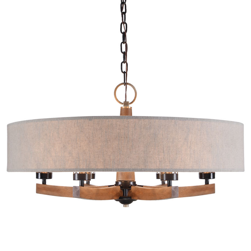 21331 Uttermost Woodall 6 Light Drum Chandelier