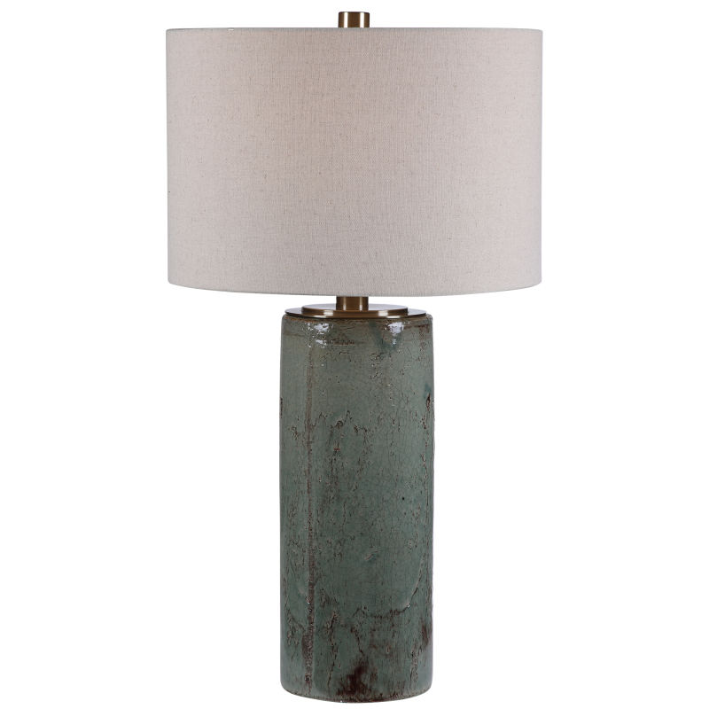 28333 Uttermost Callais Crackled Aqua Table Lamp