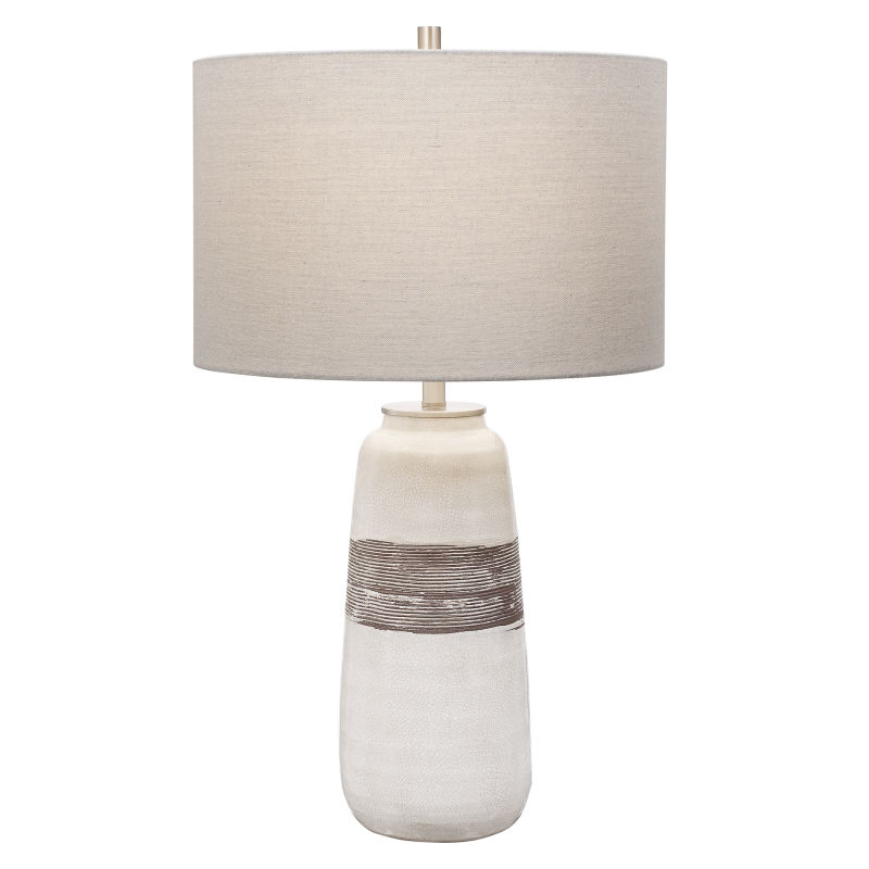 28392-1 Uttermost Comanche White Crackle Table Lamp