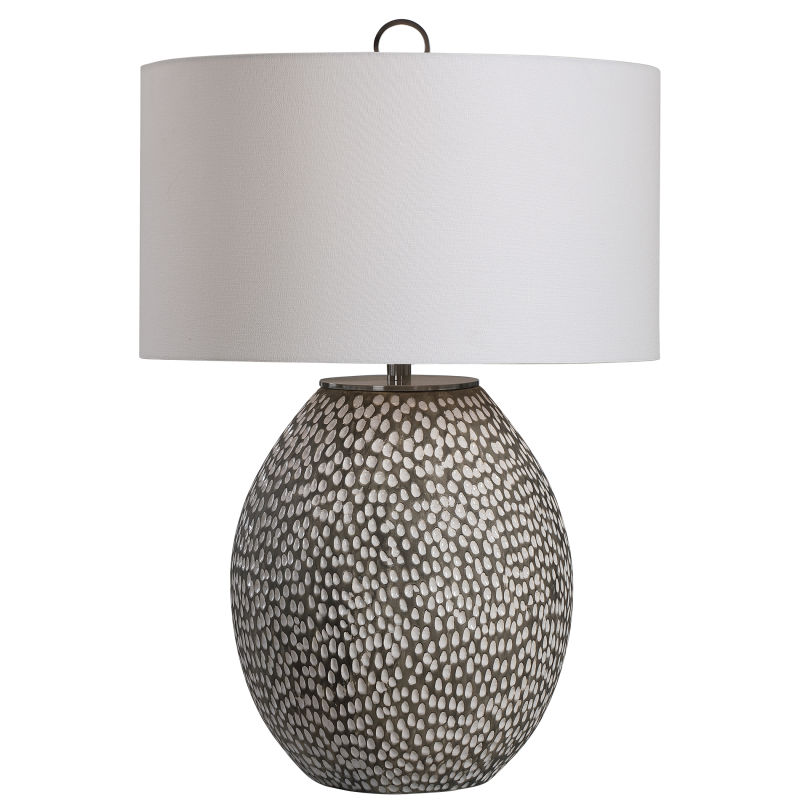 28448-1 Uttermost Cyprien Gray White Table Lamp