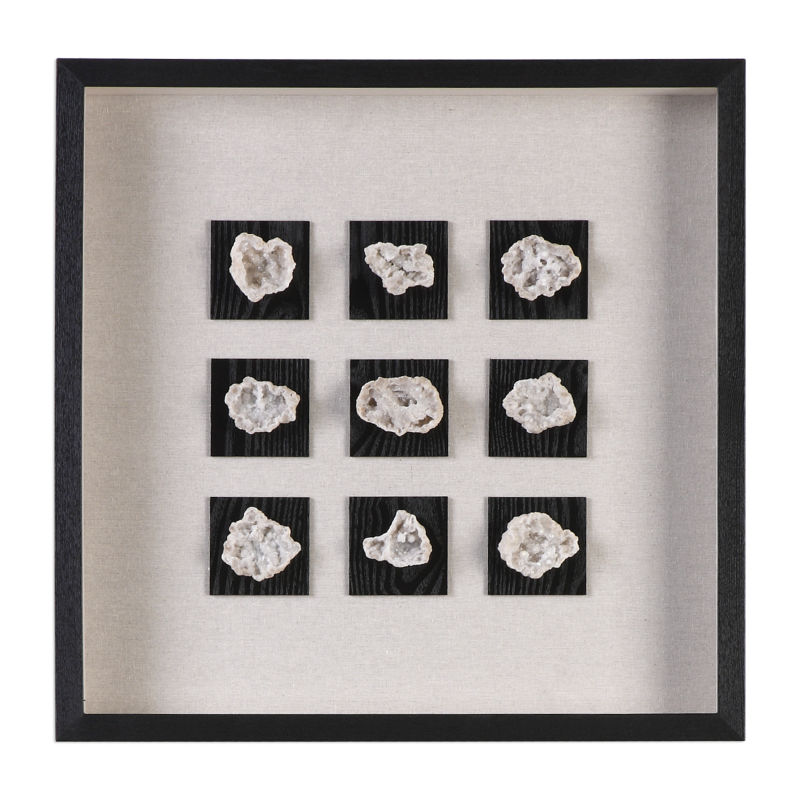 04080 Uttermost Geode Linen Shadow Box