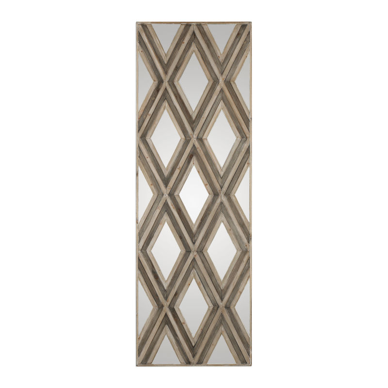 04116 Uttermost Tahira Geometric Argyle Pattern Wall Mirror