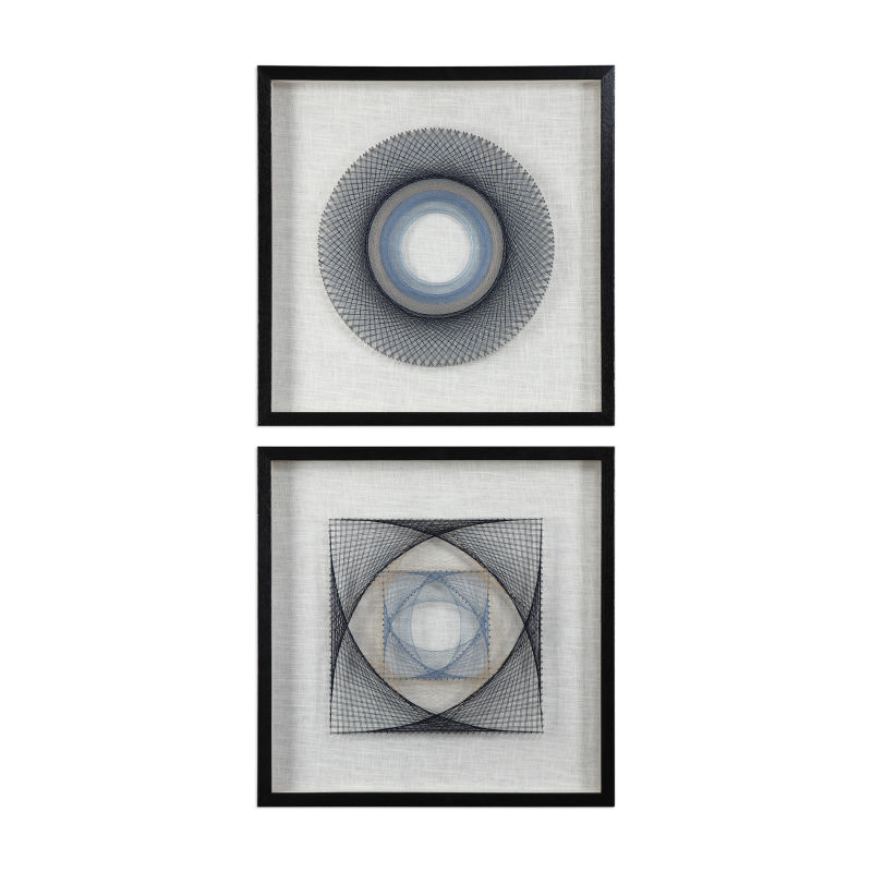 04111 Uttermost String Duet Geometric Art S/2