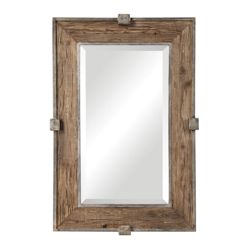 Uttermost Siringo Weathered Wood Mirror