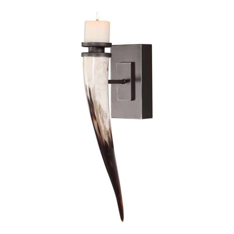 04172 Uttermost Romany Horn Candle Sconce